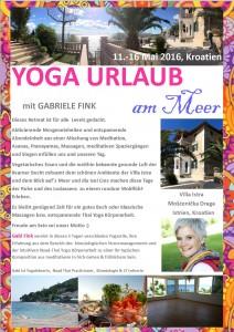 Yoga Urlaub Kroatien 2016
