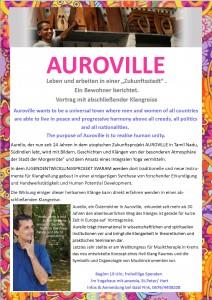 Auroville Vortrag Aurelio 2015