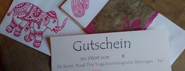 GUTSCHEINE- Wohlfühlen verschenken